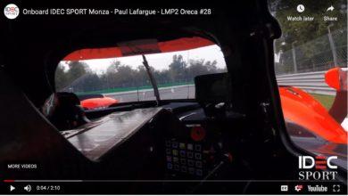 Photo de Tour embarqué en LMP2 IDEC SPORT avec Paul Lafargue sur le circuit de Monza